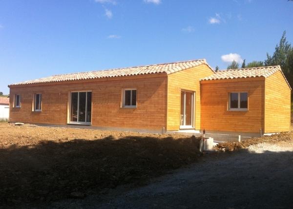 Villeneuve Minervois 2013, Aude, Construction ossature bois
