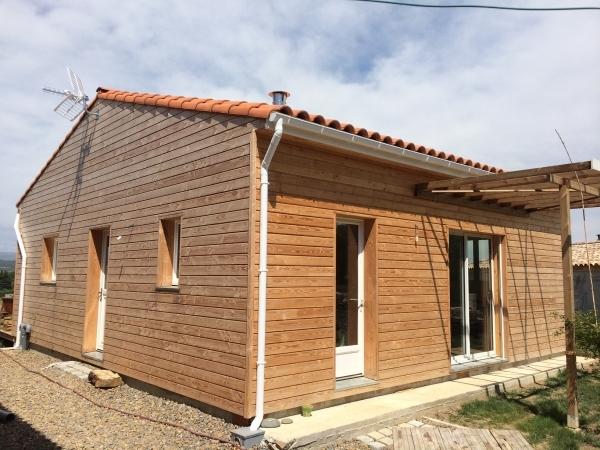 Peyriac Minervois 2013, Aude, Construction ossature bois